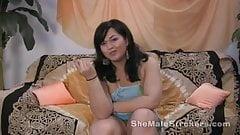 Chubby Asian Shemale Tia Ladyboy Spanking